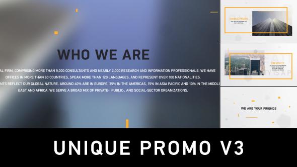 Unique Promo v3 (Commercials)