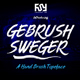 Gebrush Sweger Typeface
