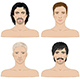 Men  with Different Hairstyles