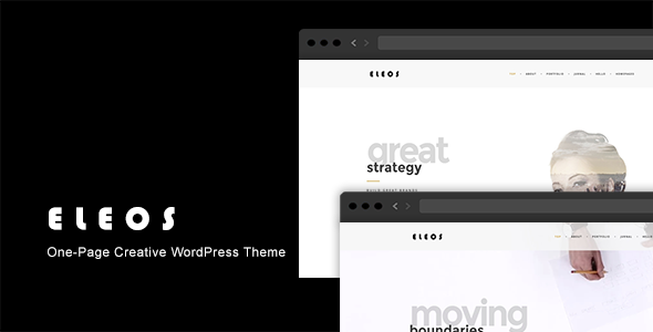 6 - Eleos - One-Page Creative WordPress Theme