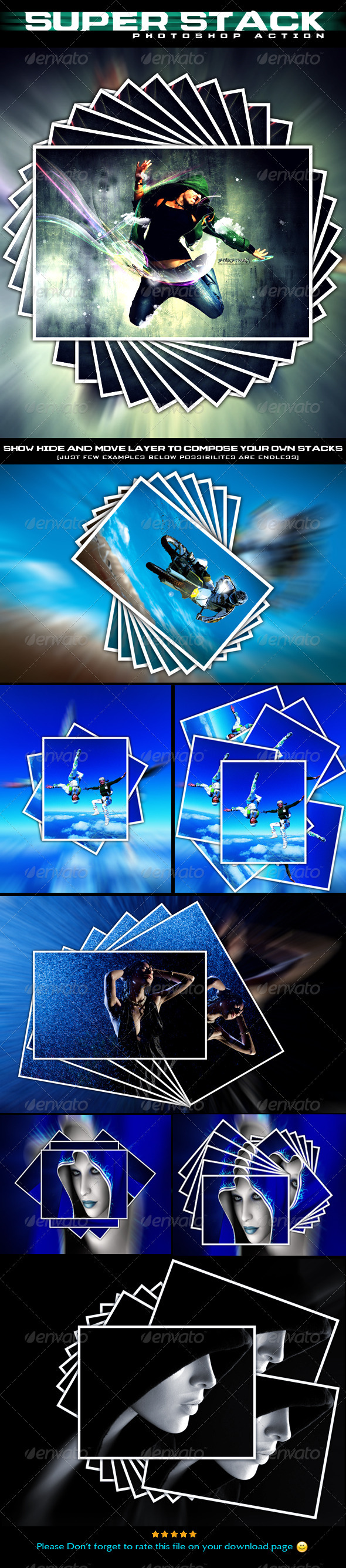 GraphicRiver Super Stack Photoshop Action 1179286