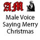 Male Voice Saying Merry Christmas