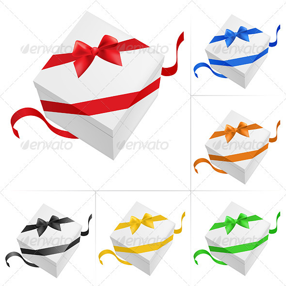 Graphic River Gift boxes Vectors -  Characters 1518812
