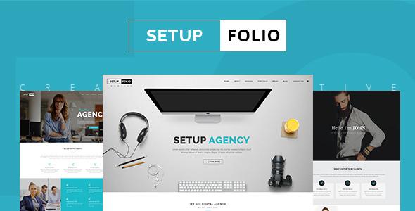 Setup Folio - Agency & Portfolio PSD Template