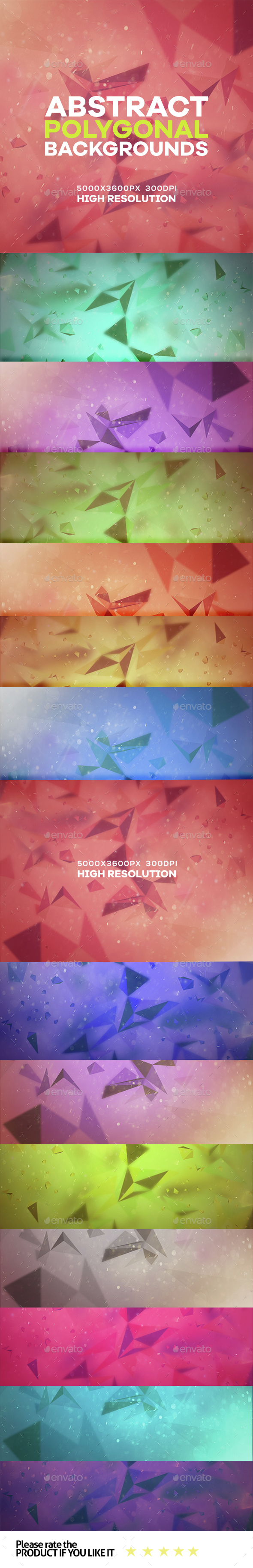 Abstract Polygonal Dust background