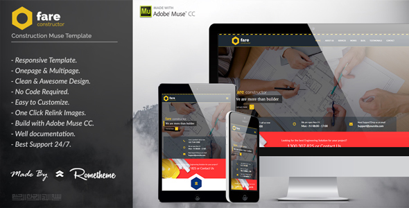 adobe muse mobile templates - fare construction muse template jogjafile