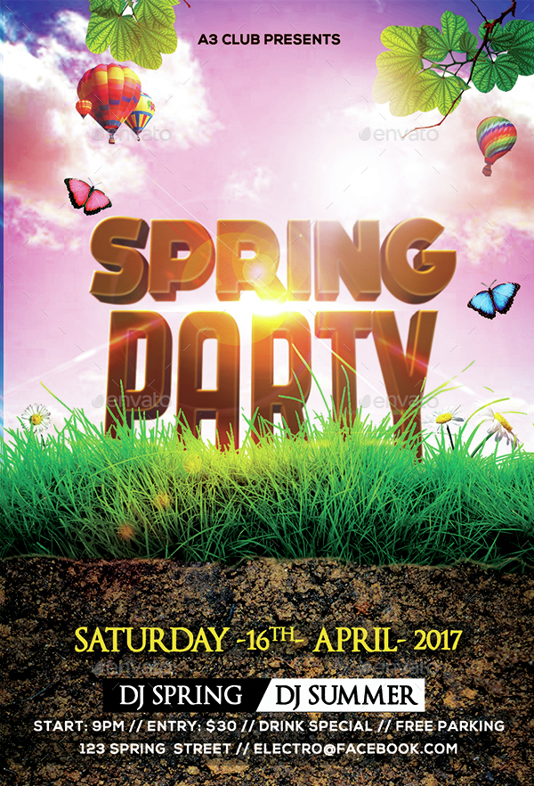 Spring Party Flyer by Arrow3000 – Spring Party Flyer