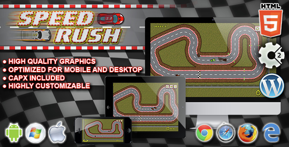 Download Speed Rush - HTML5 Construct Racing Game