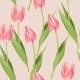 Vintage Tulip Seamless