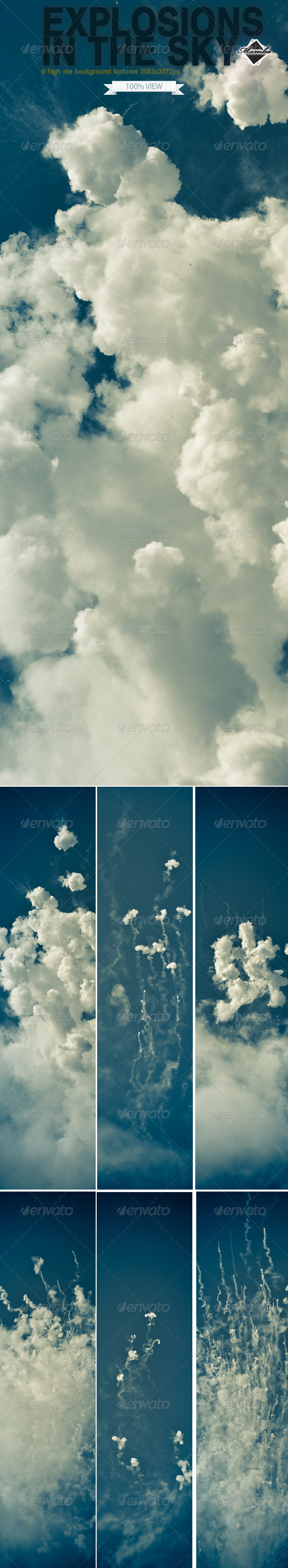 GraphicRiver Explosions in the sky 179602