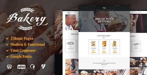 Bakery - Bakery, Cafe & Bread Shop WP Theme