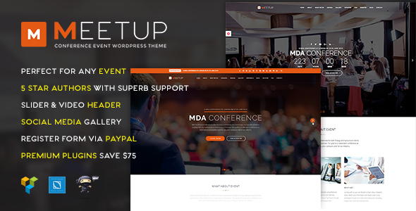Download Meetup - Conference Event WordPress Theme nulled download