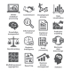 Business Management Icons. Pack 04.