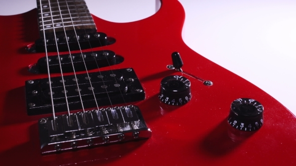Red Electric Guitar. Volume Control. Switches Animation. Rotation ...