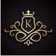 King Royal (Editable Initial / Letter K )
