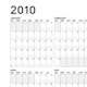 Simple 2010 calendar - GraphicRiver Item for Sale