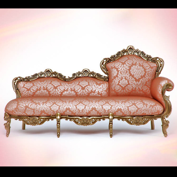 3DOcean High quality model of the couch Dormeuse paola 1519690