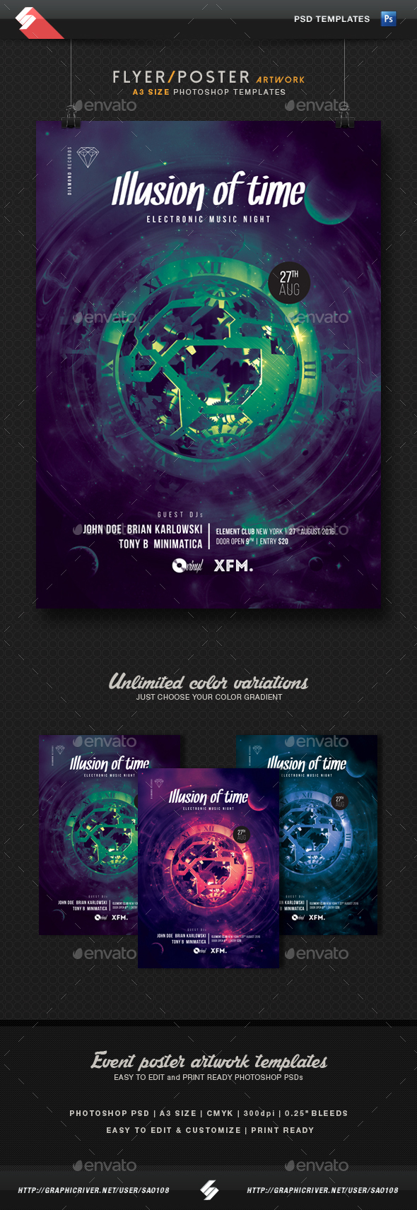 Steampunk Flyer Templates From Graphicriver