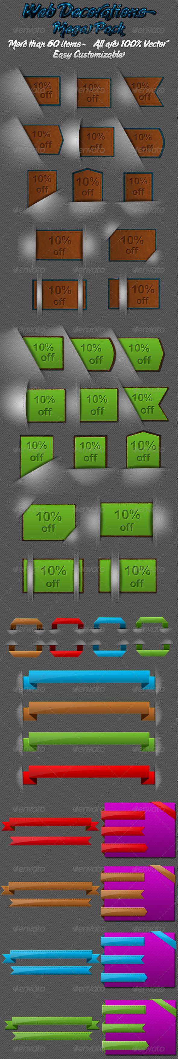 GraphicRiver Web Decoration Mega pack 179729