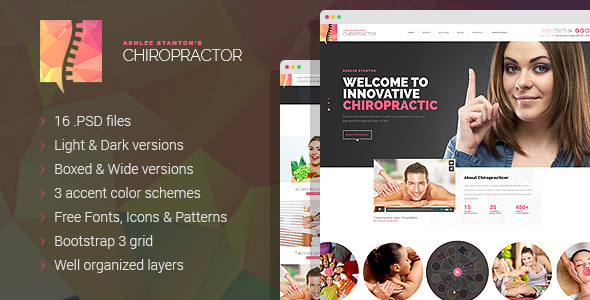 Chiropractor - Therapy and Rehabilitation PSD Template
