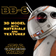 BB-8 Star Wars Droid 3D Model with Materials & Textures