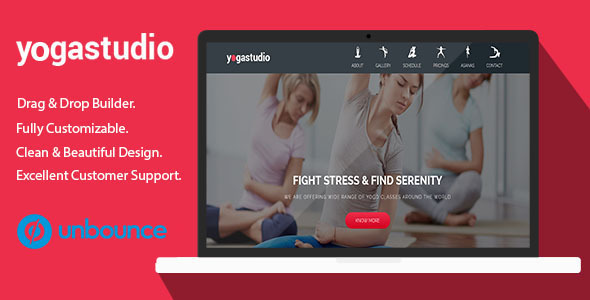 Yoga Studio - Unbounce Landing Page Template