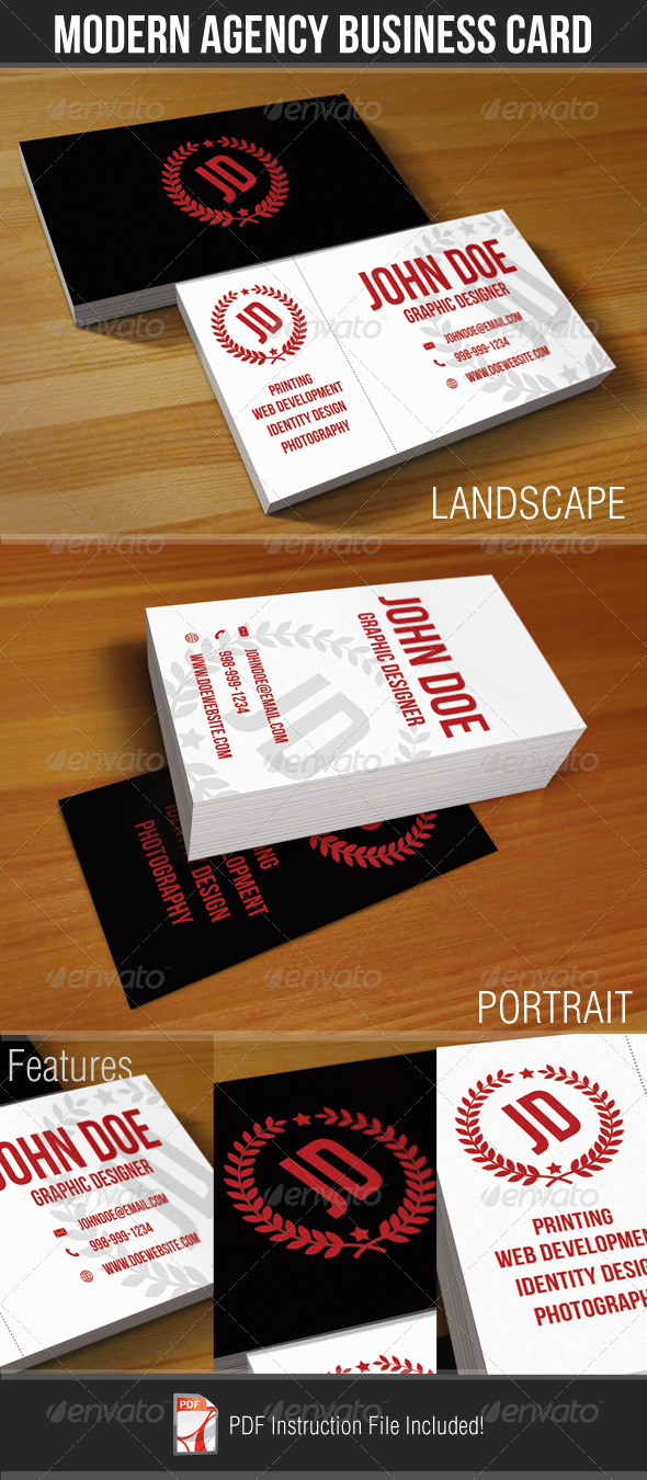 GraphicRiver Modern Agency Business Card 179748