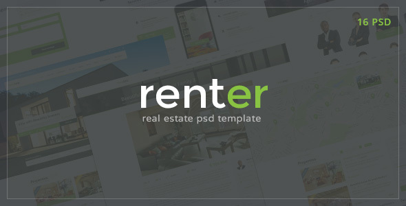 Renter — Rent & Sale Real Estate Agency PSD Template