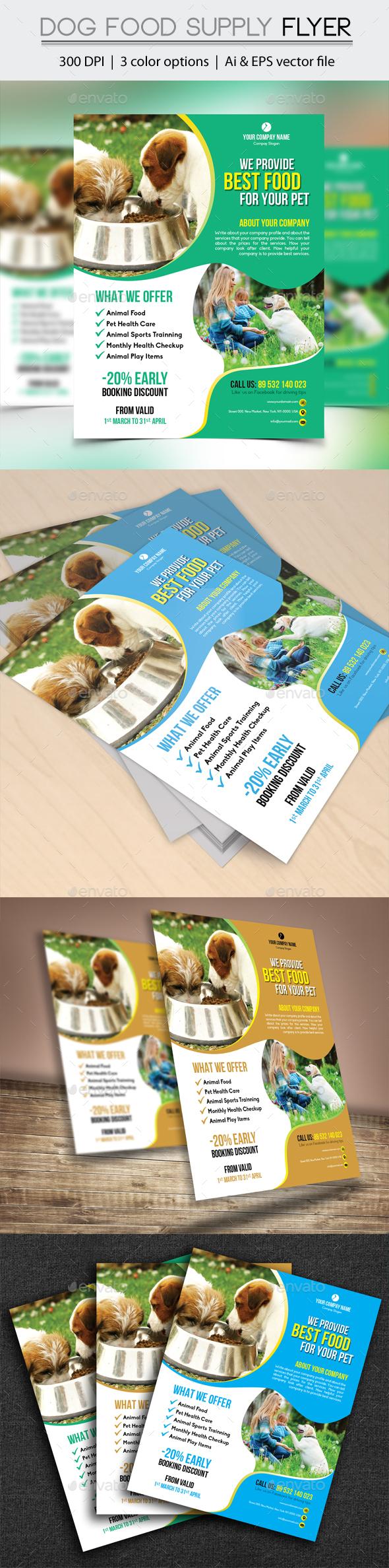 Dog Food Supply Flyer
