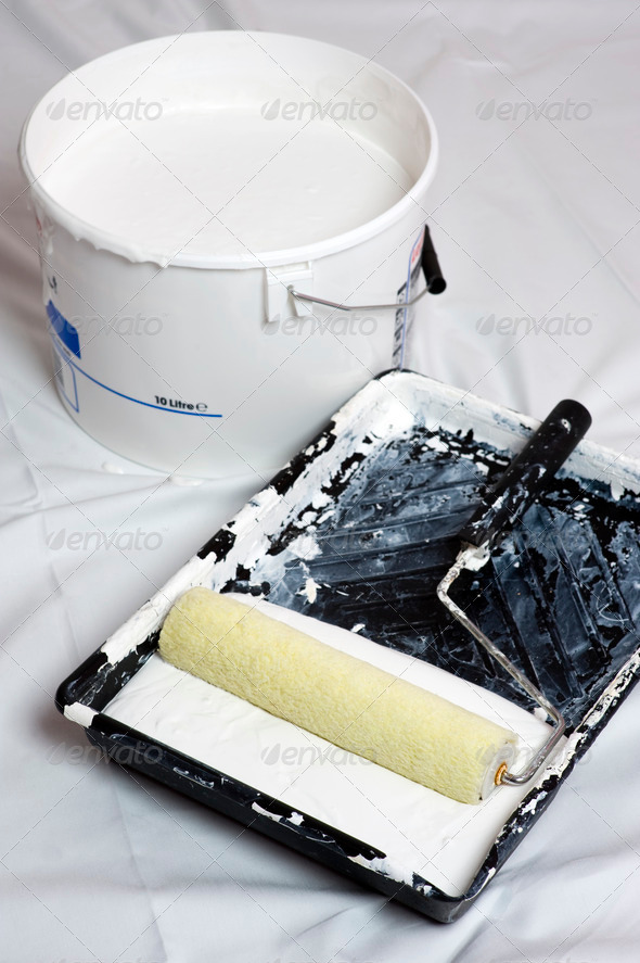 painting and decorating - Stock Photo - Images