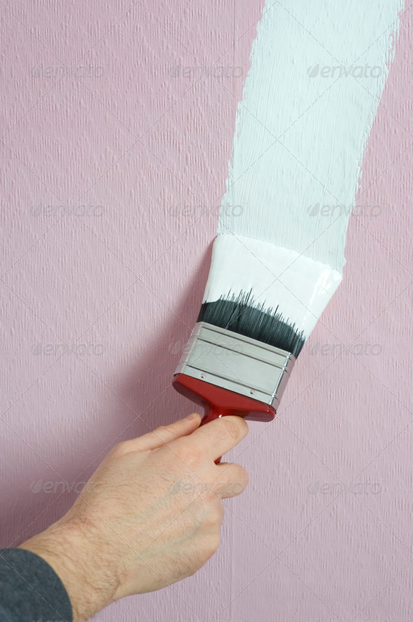 painting decorating - Stock Photo - Images