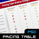 Pricing Table With Ribbon - GraphicRiver Item for Sale