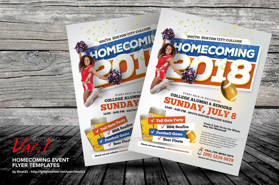 Homecoming Event Flyer Templates by kinzi21 – Event Flyer