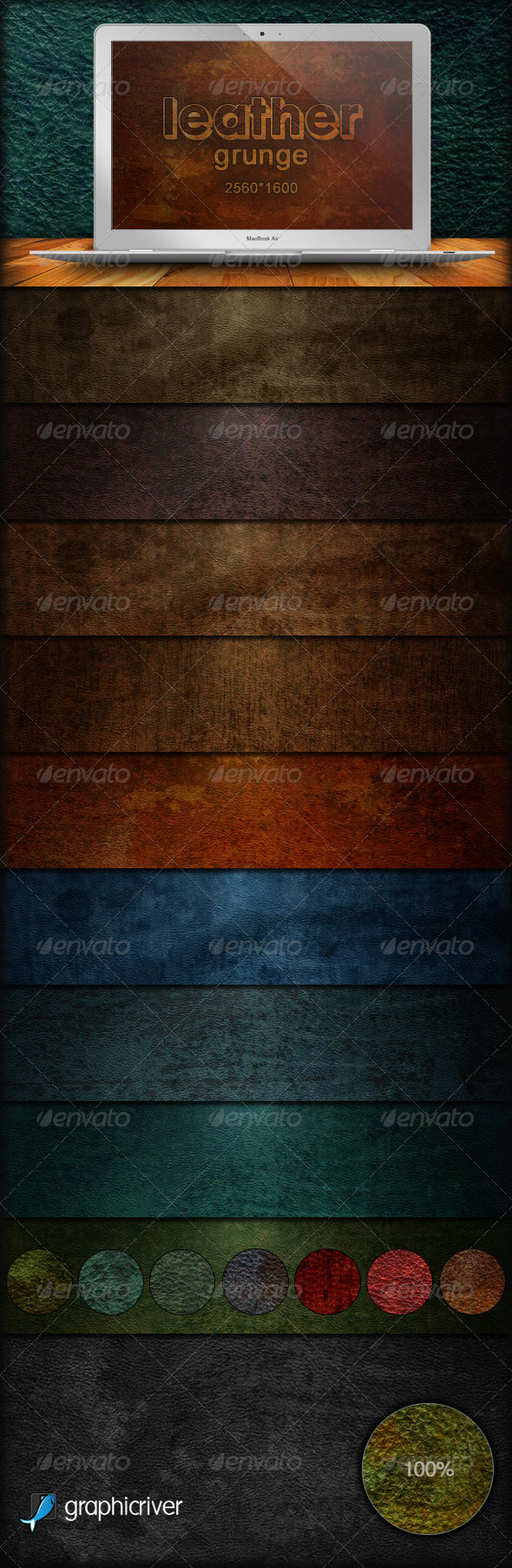 GraphicRiver Leather Grunge Backgrounds 179823