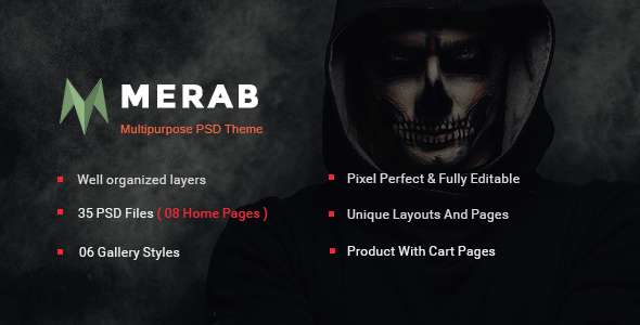 Merab - Creative Multipurpose PSD Template