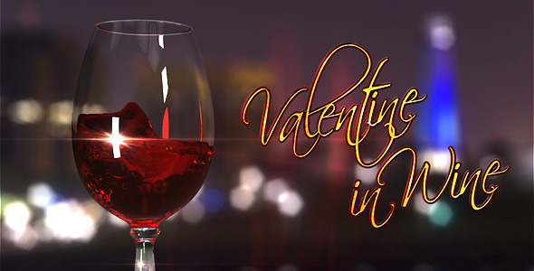 VideoHive Valentine In Wine 1520795