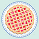 Cherry Pie on a Plate - GraphicRiver Item for Sale