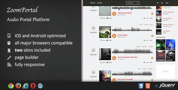 ZoomPortal - Audio Portal Platform