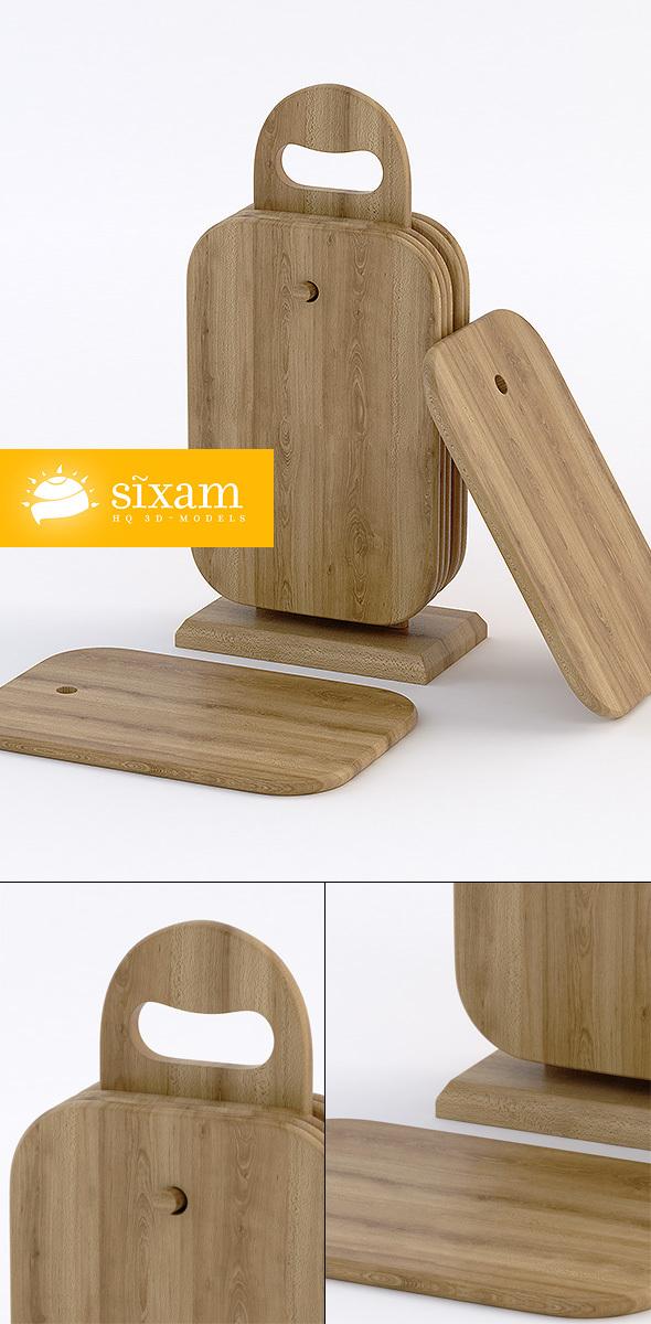Wooden Breakfast-boards - 3DOcean Item for Sale