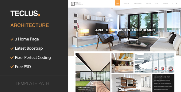 Teclus - Architecture and Renovation HTML5 Template