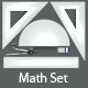 Mathematics Geometry set - 3DOcean Item for Sale