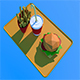 Low Poly Burger Menu