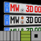 MW3D editable Car Euro Licenseplate for C4D