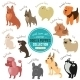 Vector Dogs And Puppies Depicting Different