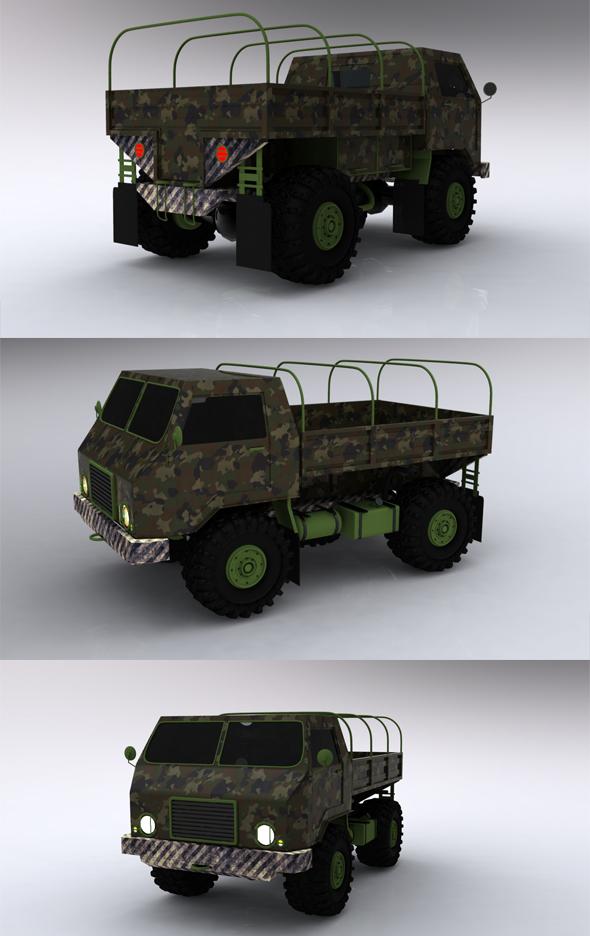 3DOcean Military truck 179962