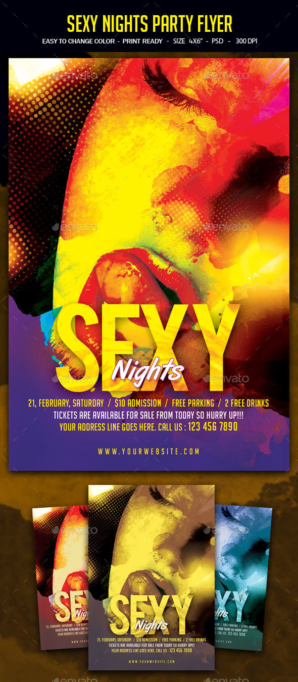 Sexy Nights Party Flyer