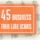 45 Business Thin Line Icons
