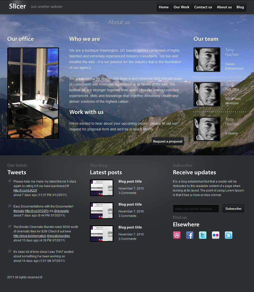 Slicer - Featured Product / Service template