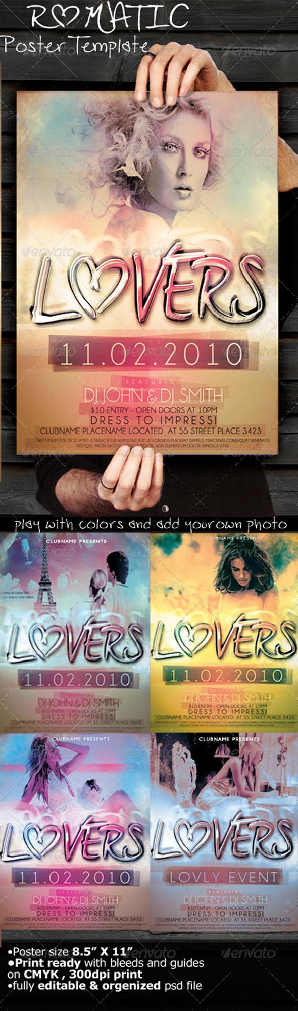 GraphicRiver Romantic Poster Template 164375