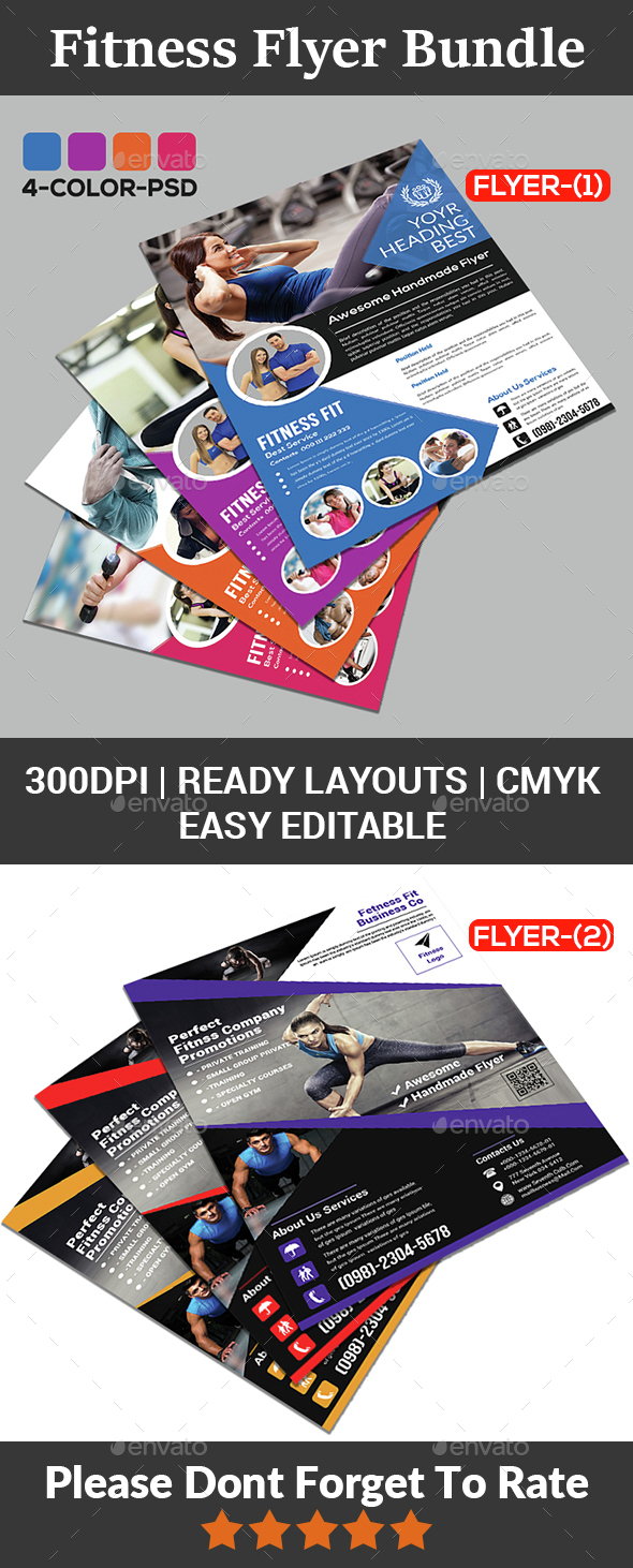 Fitness Flyer - Gym Flyer Bundle